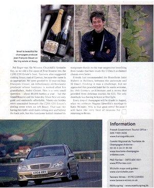 メルセデス社会報誌に掲載されたアンドレ クルエ シルバー ブリュット