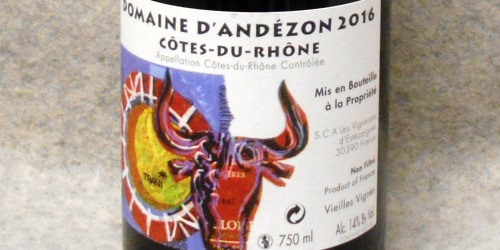 ドメーヌ ダンデゾン コート デュ ローヌ ヴィエイユ ヴィーニュ2016