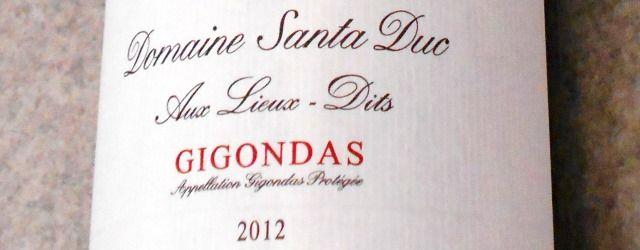 ドメーヌ サンタ デュック ジゴンダス オー リュー ディ2012