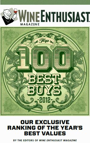 Wine Enthusiast TOP100 BEST BUYS2012