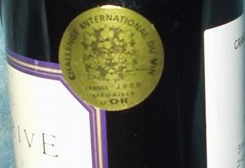 シャトー・カントグリーヴ チャレンジ・インターナショナル・デュ・ヴァン金メダル
