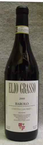 エリオ グラッソ バローロ ジネストラ ヴィーニャ カサ マテ2009