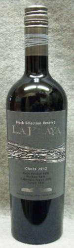 ラ・プラヤ ブロック・セレクション・レゼルヴ クラレット2012