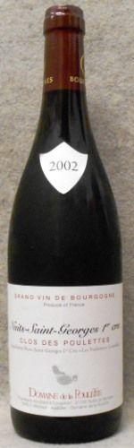 ドメーヌ ド ラ プレット ニュイ サン ジョルジュ プルミエ クリュ クロ デ プレット 2002