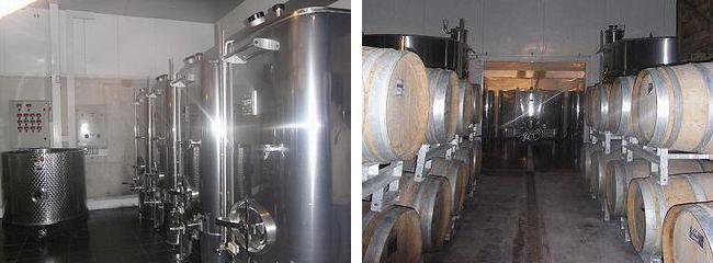 アンドレ クルエの醗酵タンクとバリック