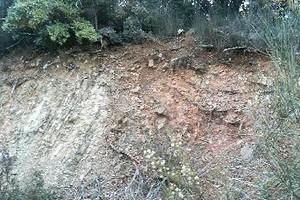 ピアン・デッロリーノ地層の断層