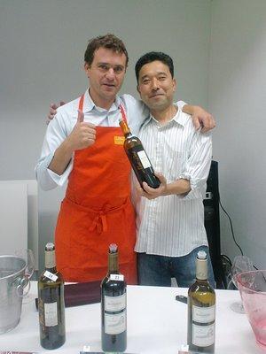 シャトー モン ペラ最高責任者、ティボー ディスパーニュ氏と店長