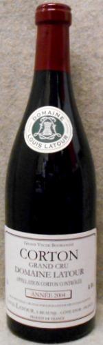 コルトン・グラン・クリュ ドメーヌ・ラトゥール 2004