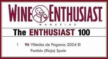 ワイン エンスージアスト2007年トップ100にて第1位