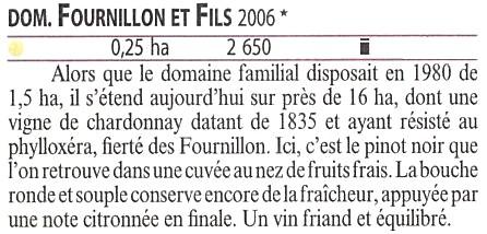 ギド・アシェット2010年版一つ星掲載、ドメーヌ・フルニヨン・エ・フィス