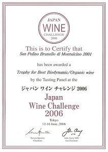 ジャパン・ワイン・チャレンジ Best Biodynamic/Organic Wine