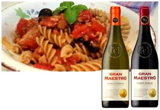 グラン マエストロ赤 白ワインとショートパスタ&トマトソースのセット