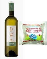 ダーマ・トレッビアーノ・ダブルッツォとサリチェッラのモッツアレッラ・チーズ