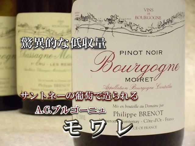 フィリップ・ブルノ ブルゴーニュ・ピノ・ノワール モワレ2008