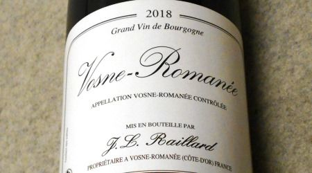 ジャン ルイ ライヤール ヴォーヌ ロマネ2018