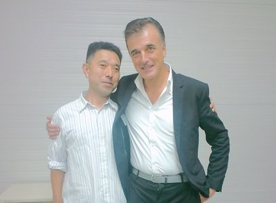 ファルネーゼ社長ヴァレンチーノ氏と店長