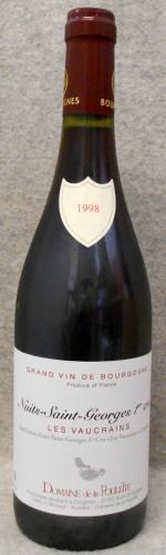 ドメーヌ ド ラ プレット ニュイ サン ジョルジュ プルミエ クリュ レ ヴォークラン1998